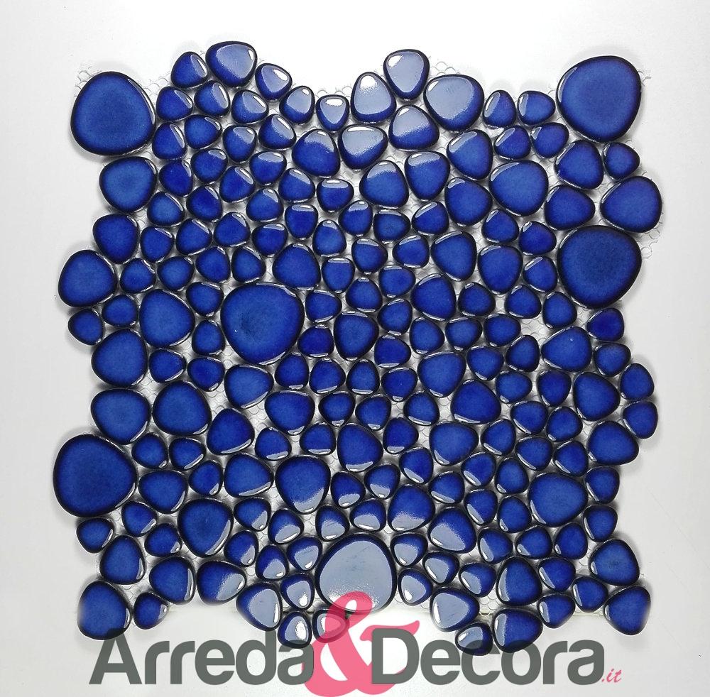 ciottoli blu cobalto