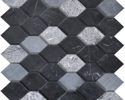 mosaico-esagonale-marmo-black