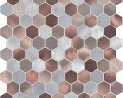 mosaico-esagonale-alluminio-color-rame-ottone