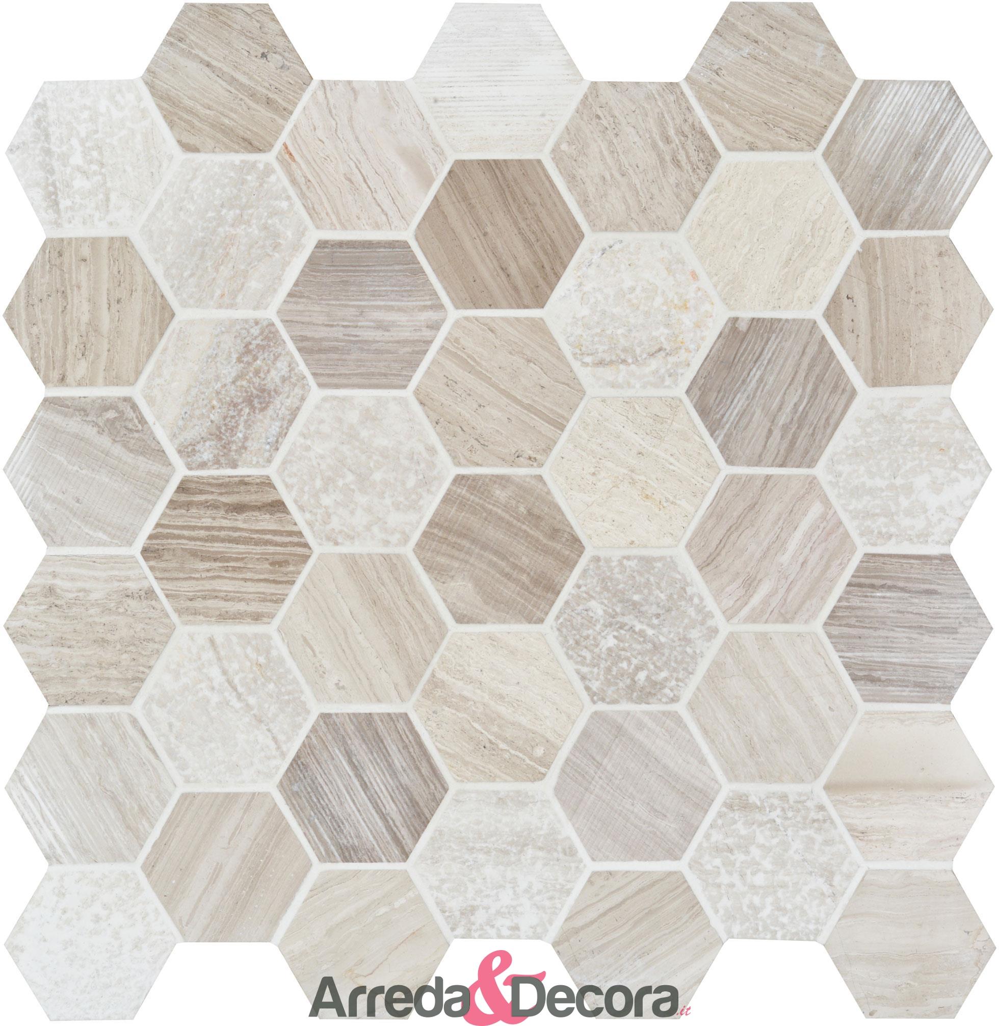 mosaico-esagonale-in-marmo-beige