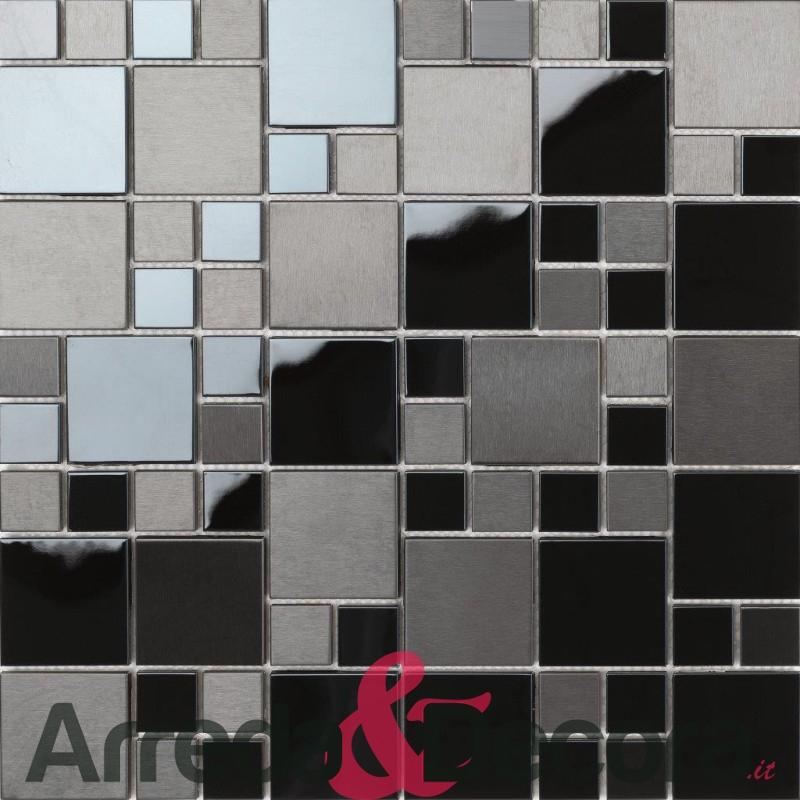mosaico in acciaio inox MATRIX dune 1