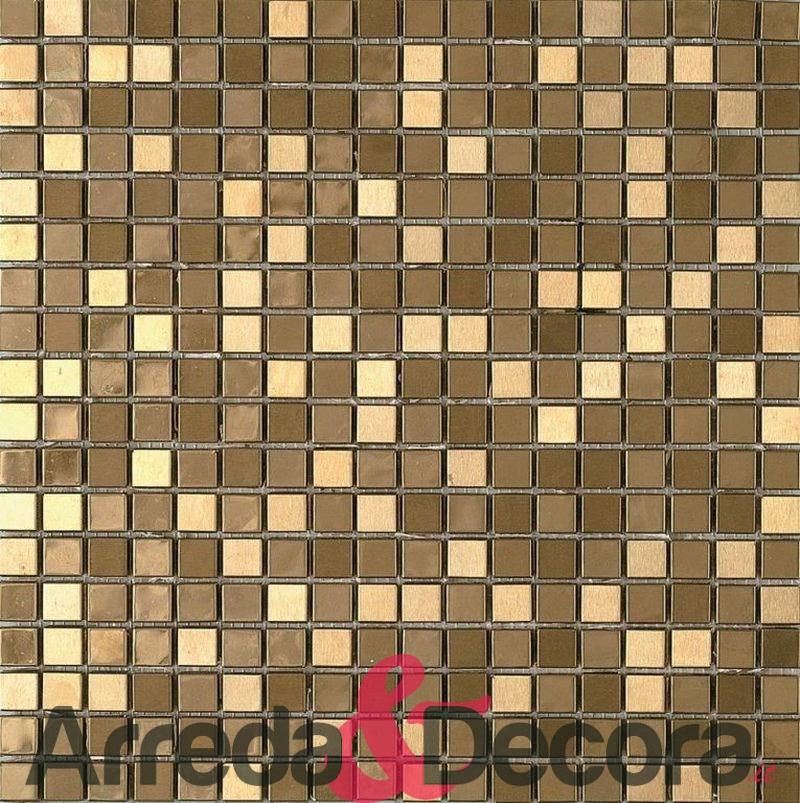 mosaico in acciaio inox METALIC GOLD dune 1