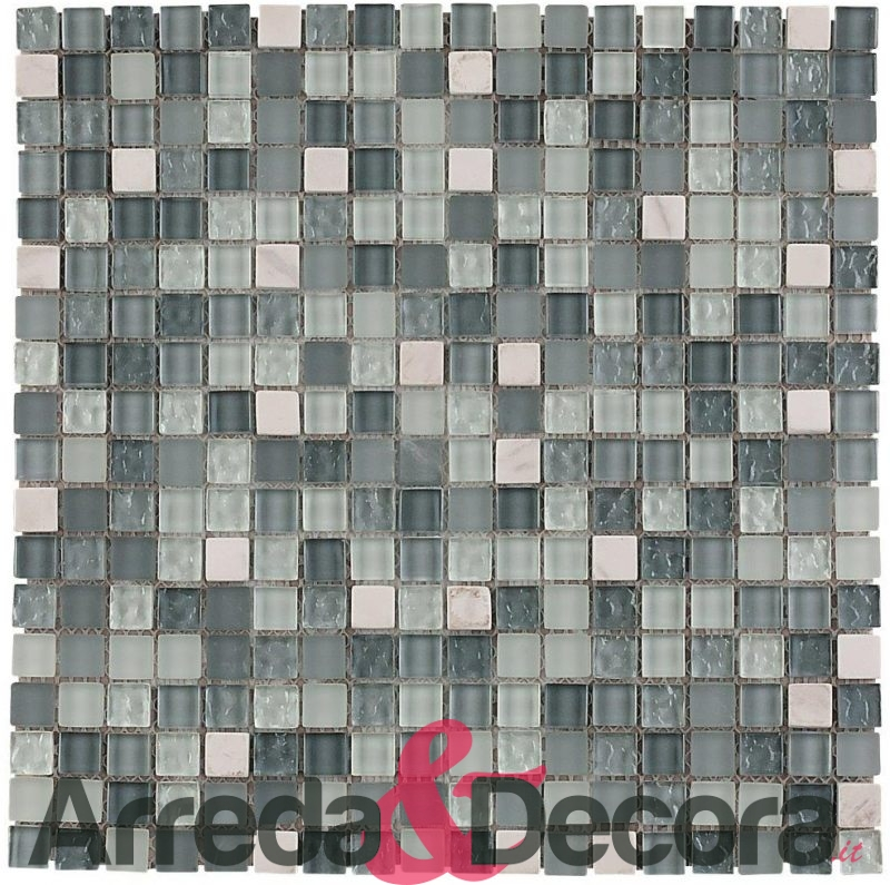 mosaico in vetro e pietra mod. CARRARA dune 1