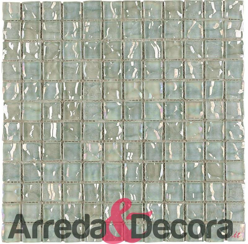 mosaico in vetro per bagni bianco mod. cayman nacar dune 1