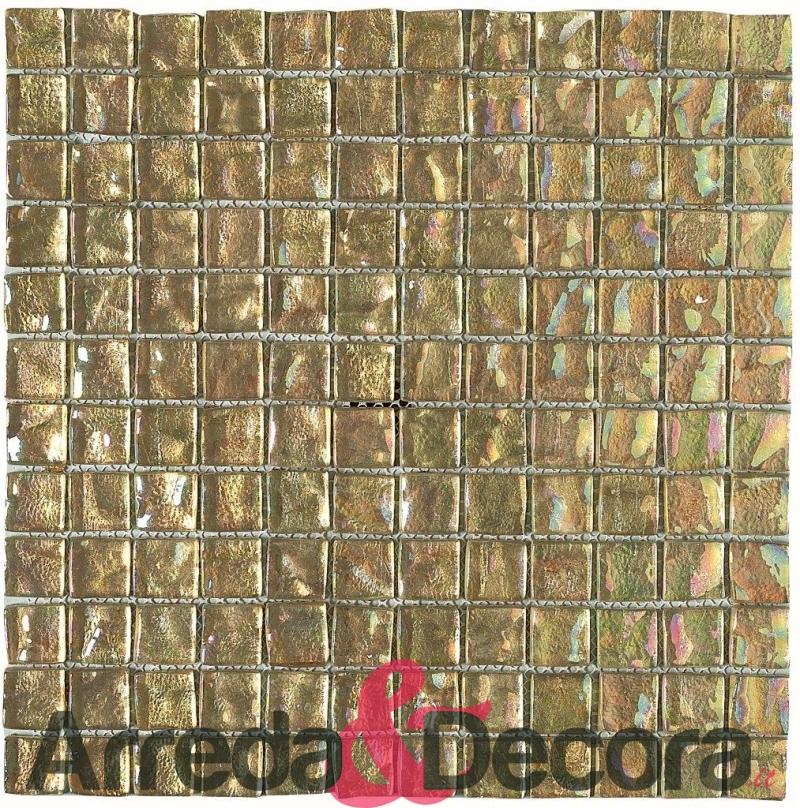 mosaico in vetro per bagni saloni cucine banconi effetto oro mod. cayman champagne dune 1