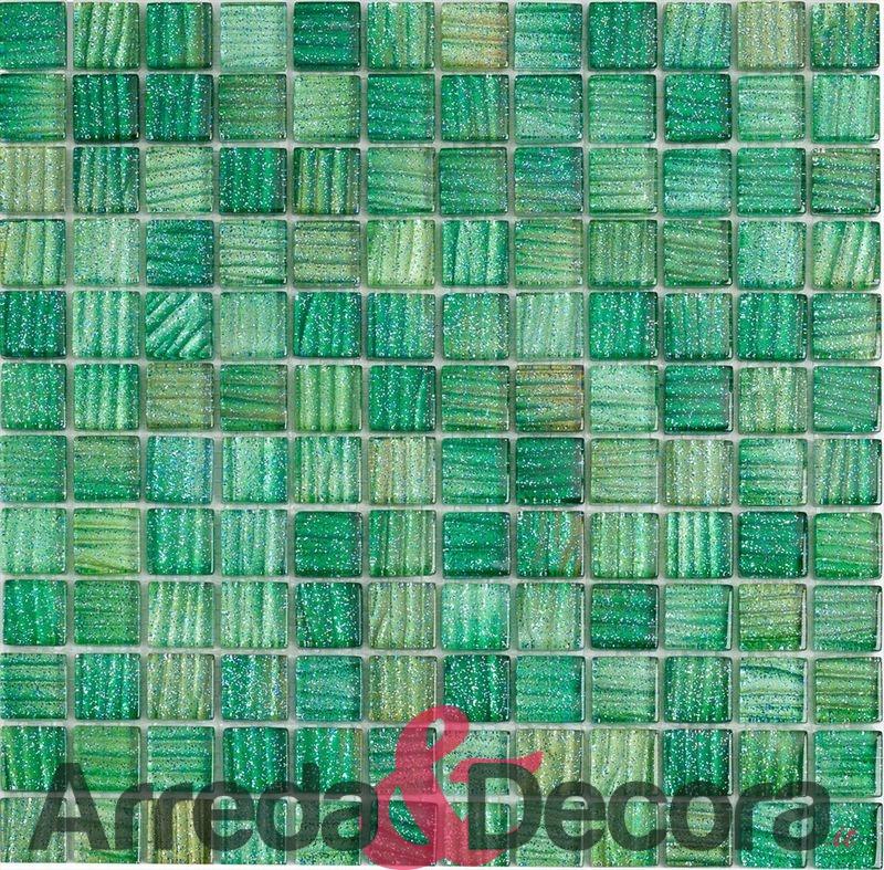 mosaico glitter verde