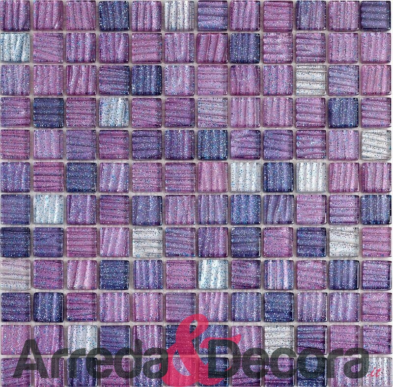 mosaico glitter viola