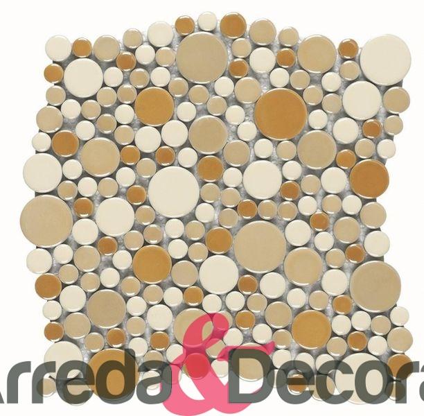 mosaico in ceramica a ciottoli cerchio PLANETS dune 1