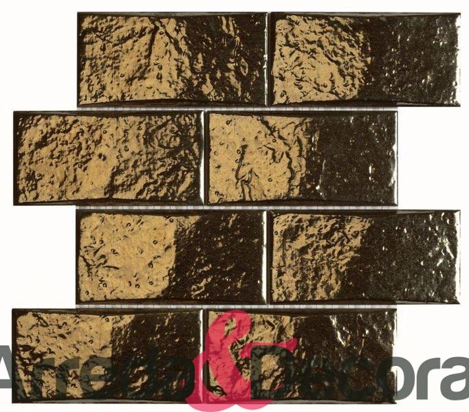 mosaico in ceramica effetto oro ASTON dune 1