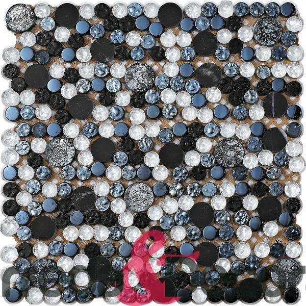ciottoli circolari argento