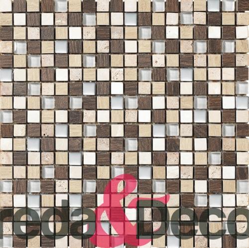 mosaico in vetro rustico