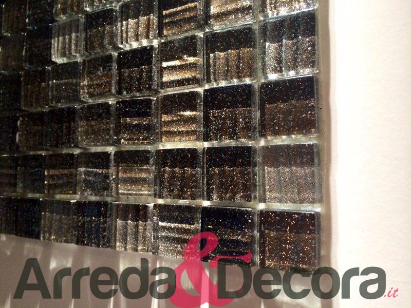Bagno Con Mosaico Nero : Mosaico in cristallo con glitter mod stripe nero