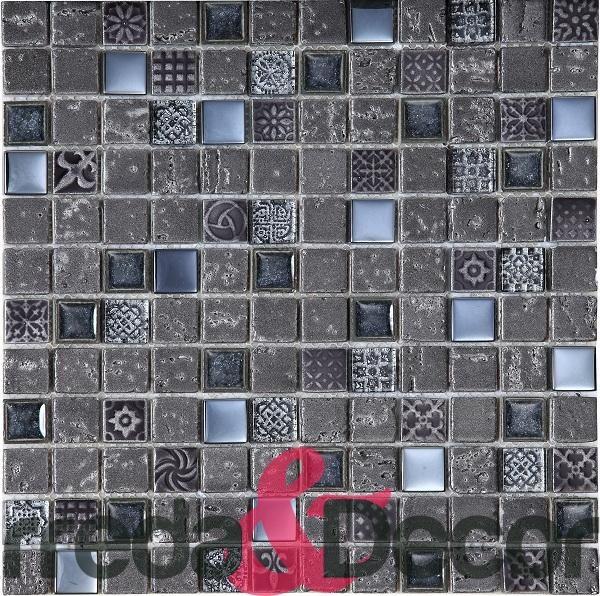 mosaico impero grigio scuro 1