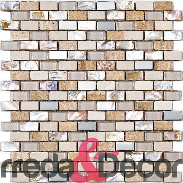 mosaico in madreperla beige