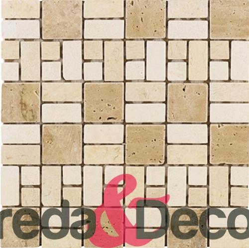 mosaico in marmo regolare mix