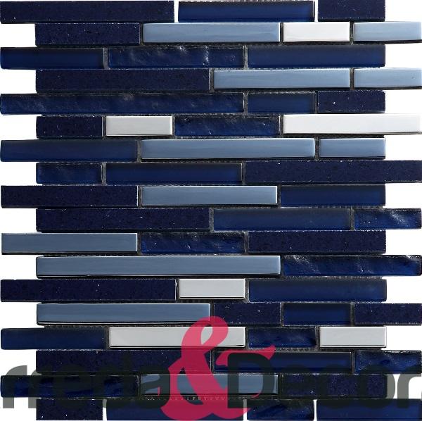 mosaico irregolare blu agglomerato