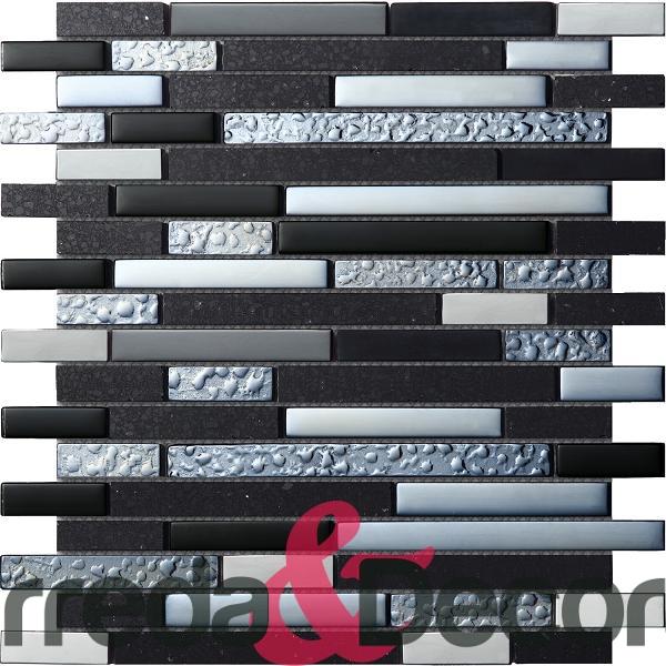 mosaico irregolare nero agglomerato