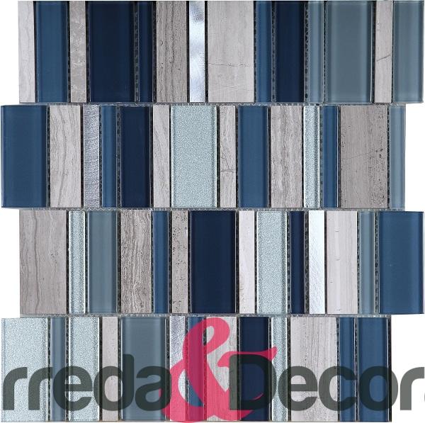 mosaico rettangolare blu particolare