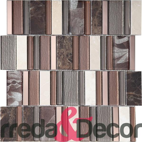 mosaico rettangolare marrone particolare