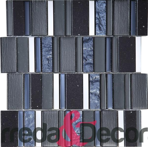 mosaico rettangolare nero particolare