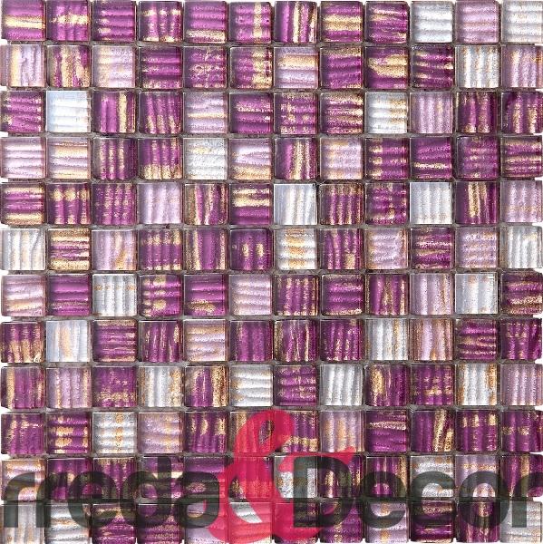 mosaico viola-oro glitter stripe