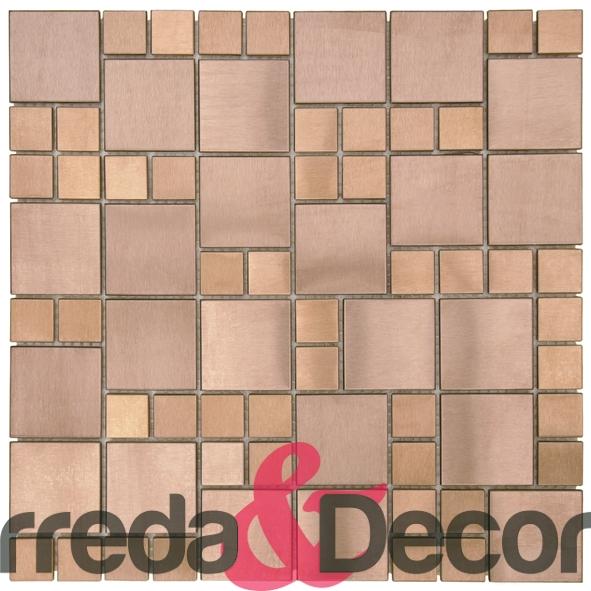 Mosaico in Acciaio mod. Bronzo Opaco MEBR03