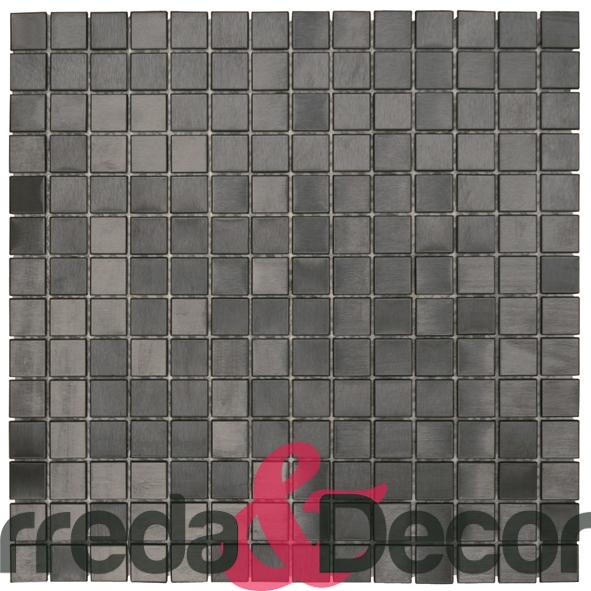 Mosaico in Acciaio mod. Nero Opaco MENO01