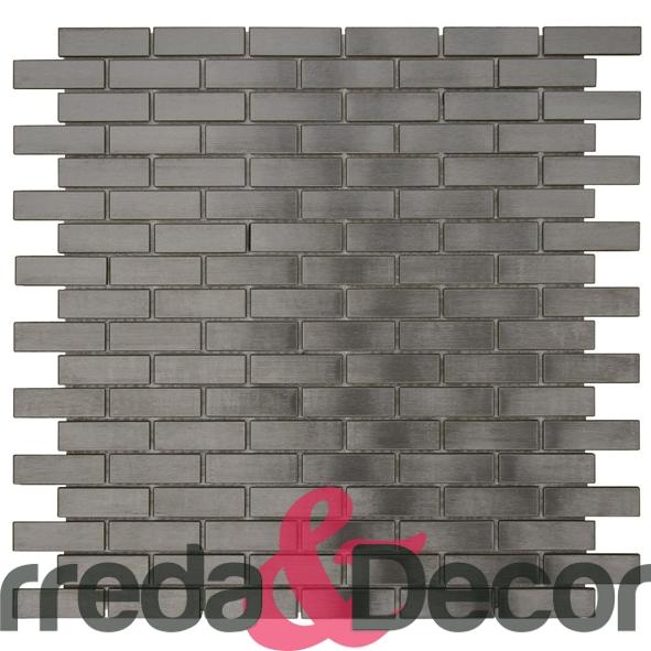 Mosaico in Acciaio mod. Nero Opaco MENO02