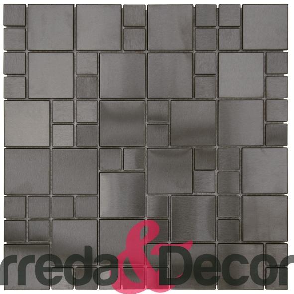 Mosaico in Acciaio mod. Nero Opaco MENO03