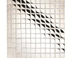 Mosaico in Acciaio mod. Argento Lucido Hussar EW-HUSP23