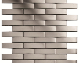 Mosaico in Acciaio mod. Argento Spazzolato Cuirassier EW-CURBS