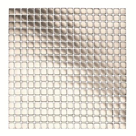 Mosaico in Acciaio mod. Argento Spazzolato Greandier EW-GRENB15