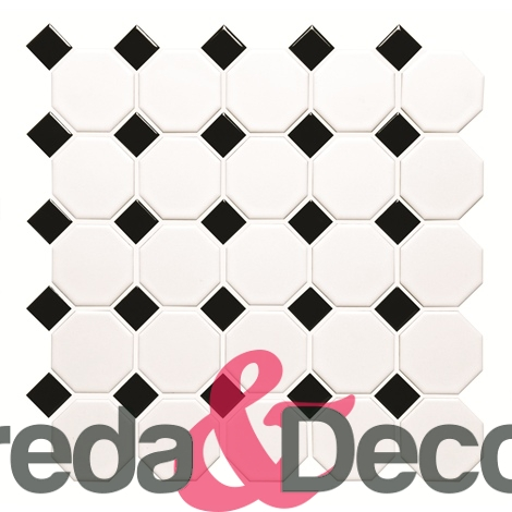 Bianco e Nero mod. Classic Octagon and Dot CS-OCTDOT