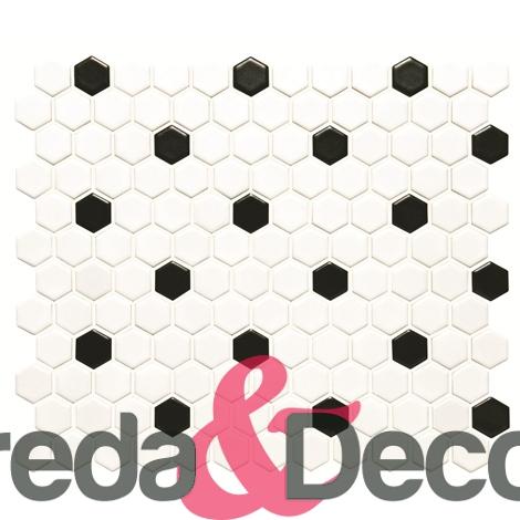 Nero e Bianco mod. HoneyComb CS-HNYCOMWB