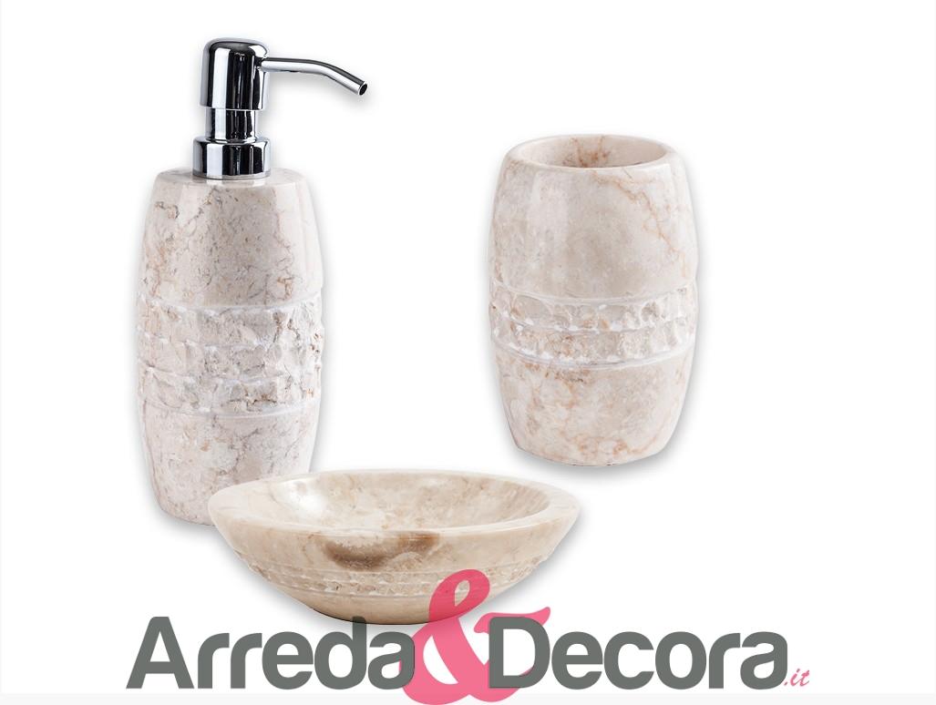 accessori in marmo bagno cipi merapi bianco