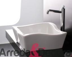 lavabo appoggio bianco particolare