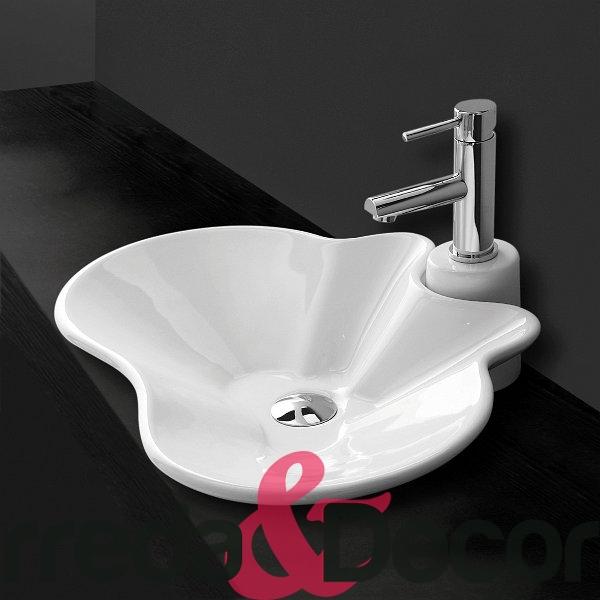 lavabo bianco appoggio particolare