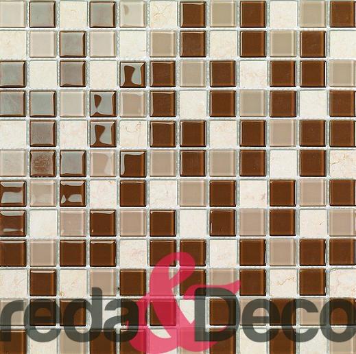 mosaico in vetro e pietra mix Lyon