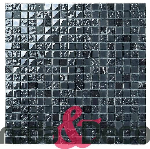 mosaico in vetro e pietra nero Atlantida