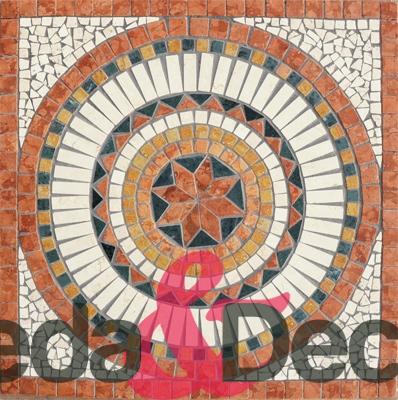 rosone dama rosso 66x66