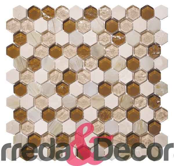 mosaico esagonale beige chiaro