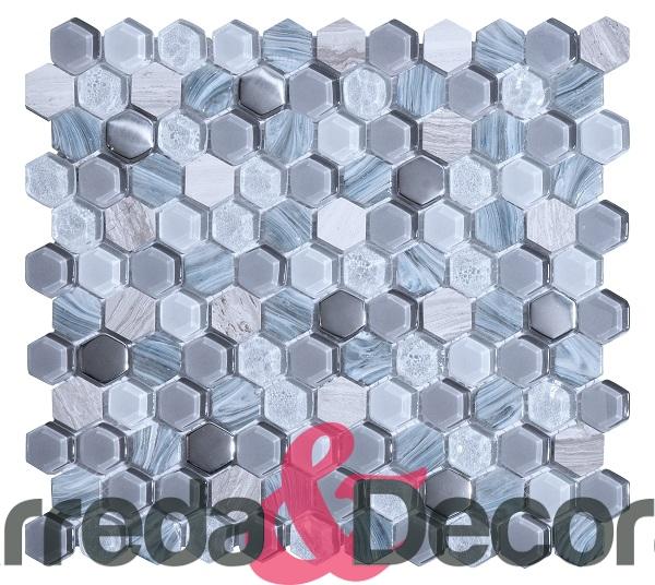 mosaico esagonale grey elegante