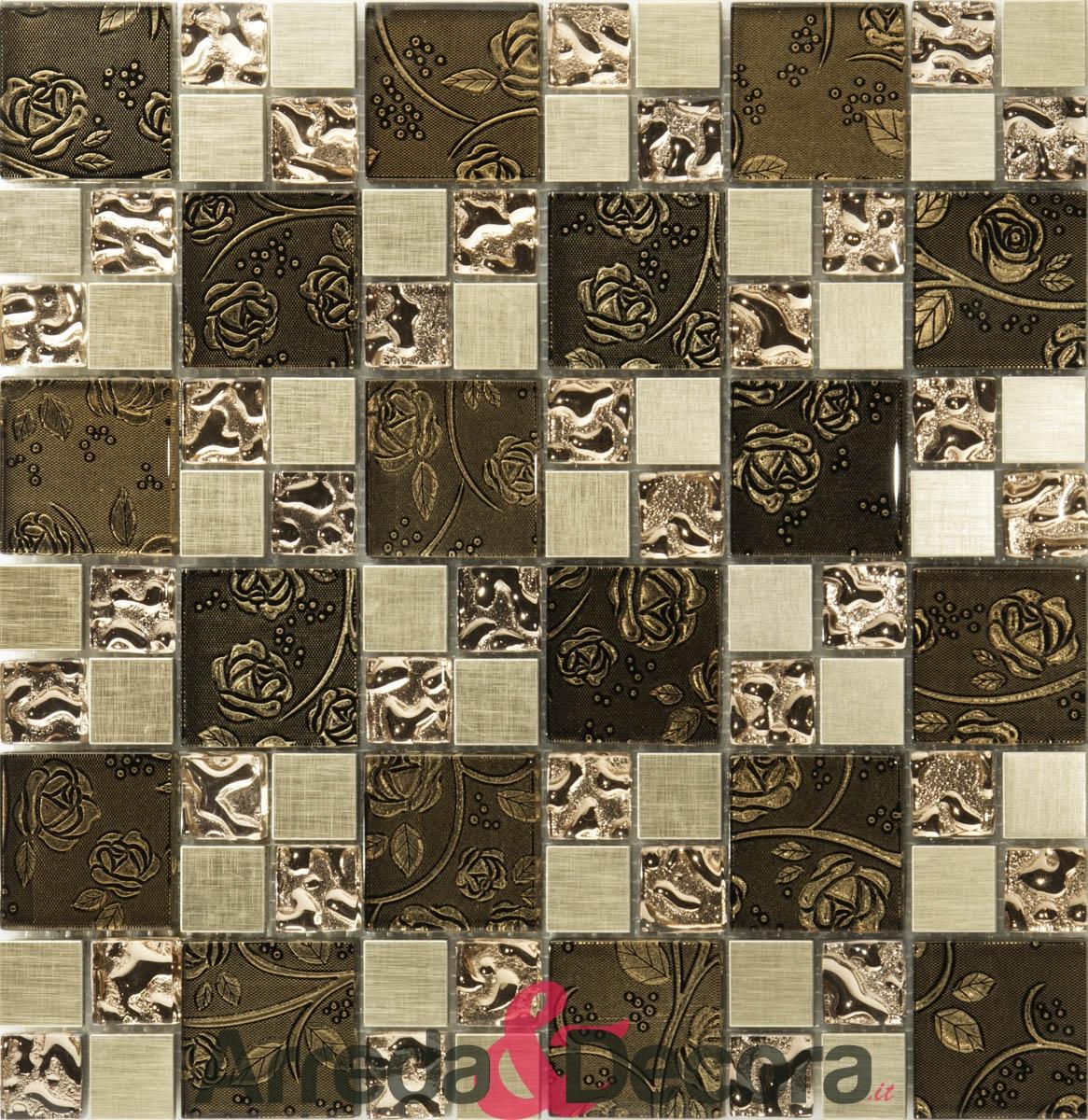 mosaico fiori serie lusso24
