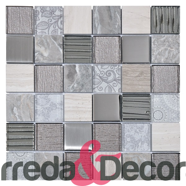 mosaico grigio rettangolare 1
