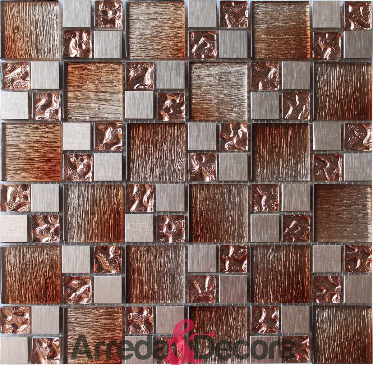 mosaico legno arancio