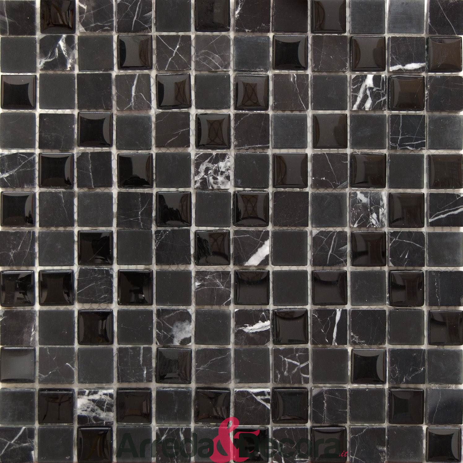 mosaico marmo nero