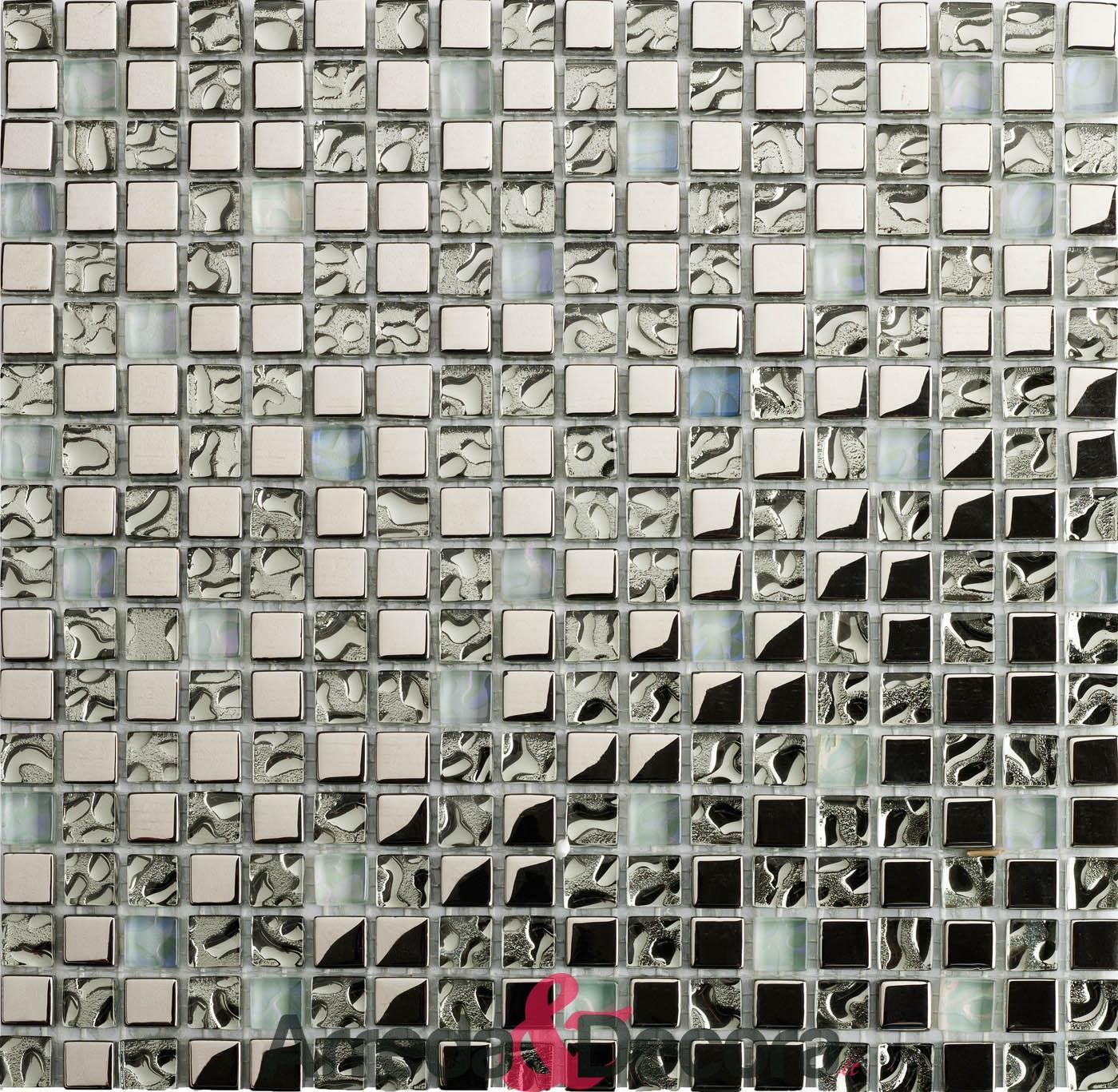 mosaico metallico