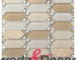 mosaico rombo beige