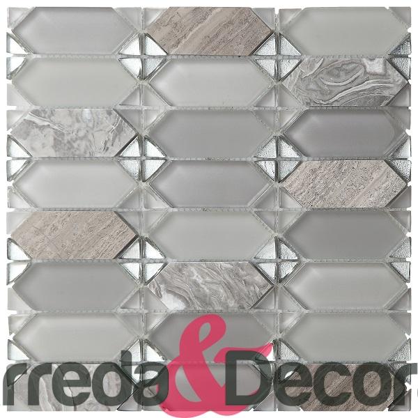 mosaico rombo grigio