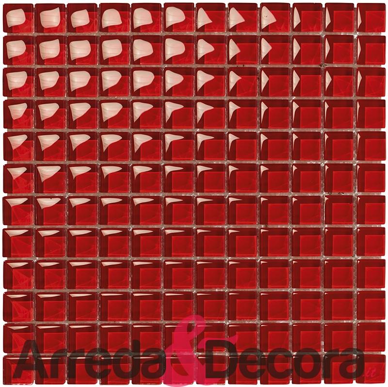 mosaico tutto rosso